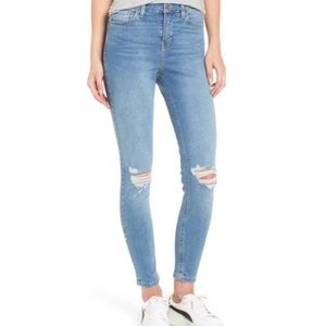 TopShop motto Jamie high waisted distressed jeans